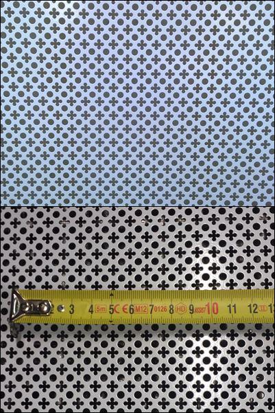 Copritermo alluminio plastificato fantasia valente for Rete stirata prezzo